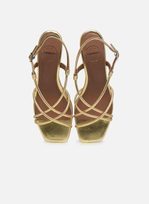 Sandalen Made by SARENZA Exotic Vibes Sandales à Talons #10 gold/bronze schuhe getragen