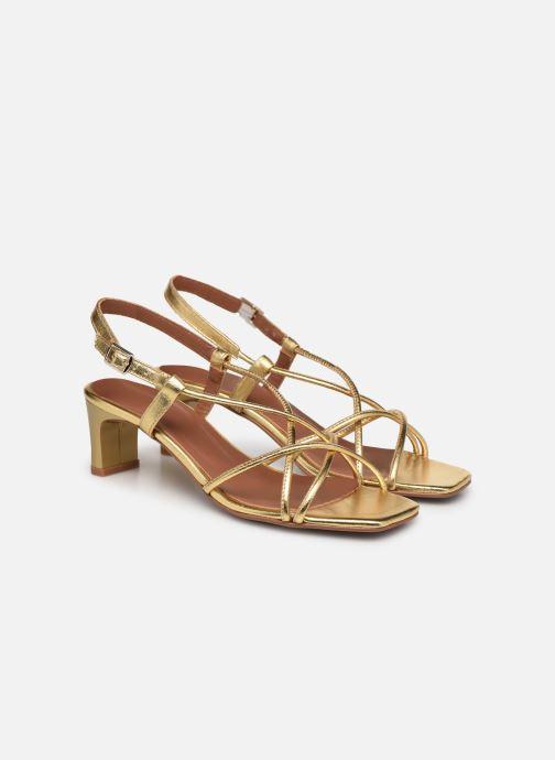 Sandalen Made by SARENZA Exotic Vibes Sandales à Talons #10 gold/bronze ansicht von hinten