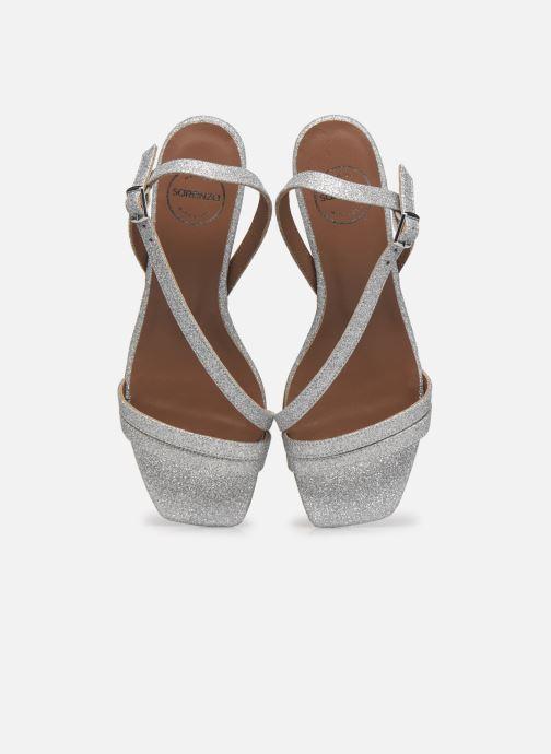 Sandali e scarpe aperte Made by SARENZA Minimal Summer Sandales à Talons #5 Argento modello indossato