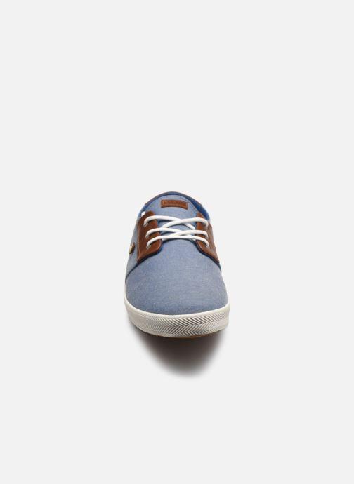 Baskets Faguo CYPRESSME BASKETS COTTON LEATH M Bleu vue portées chaussures