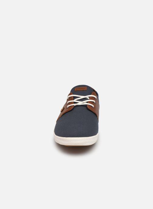 Baskets Faguo TENNIS CYPRESS COTTON LEATHER M Bleu vue portées chaussures