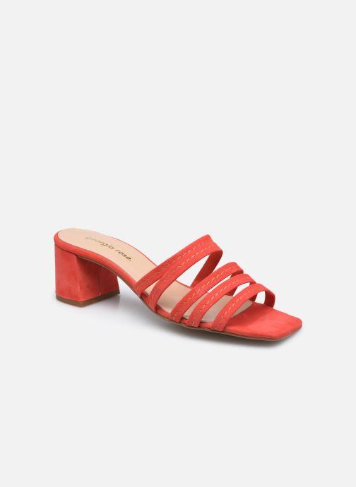 Clogs og træsko Georgia Rose Susan Rød detaljeret billede af skoene