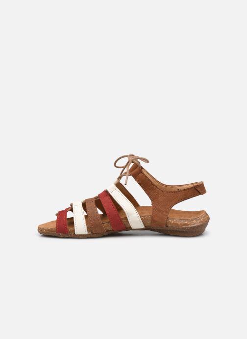 Sandales et nu-pieds El Naturalista Wakataua N5069 Marron vue face