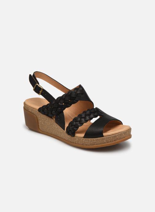 Sandales et nu-pieds El Naturalista Leaves N5028 Noir vue détail/paire