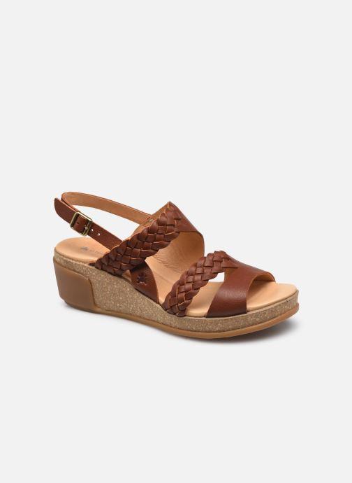Sandales et nu-pieds El Naturalista Leaves N5028 Marron vue détail/paire