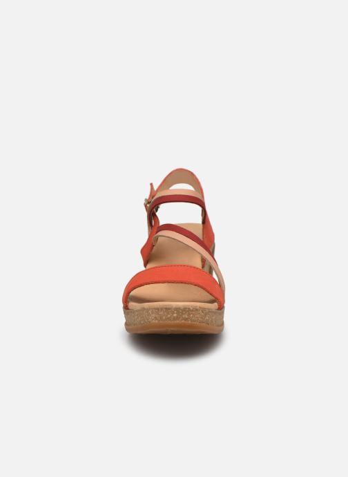 Sandales et nu-pieds El Naturalista Leaves N5019 Orange vue portées chaussures