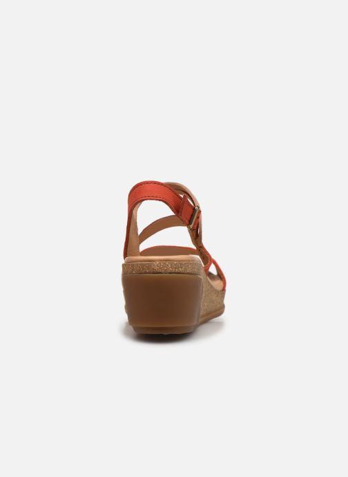 Sandales et nu-pieds El Naturalista Leaves N5019 Orange vue droite