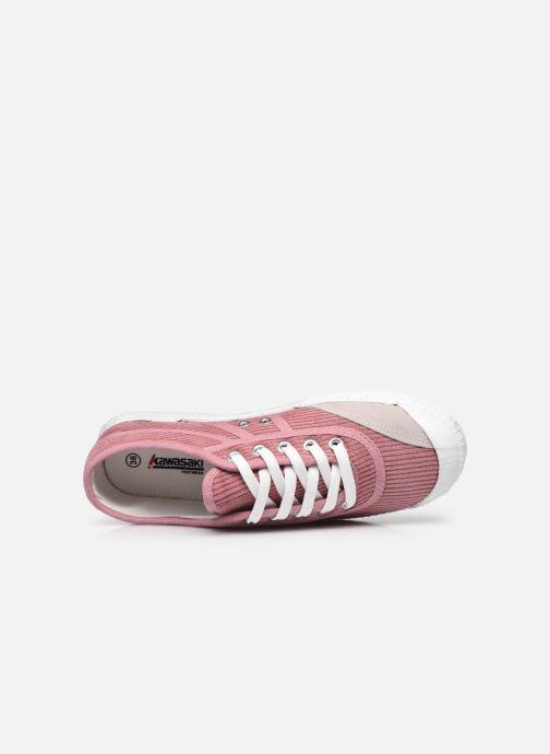 Sneaker kawasaki Corduroy W rosa ansicht von links