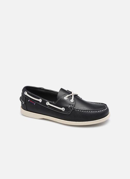 Chaussures à lacets Sebago Portland Docksides Bleu vue détail/paire