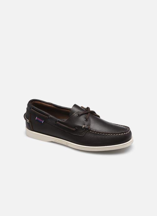 Chaussures à lacets Sebago Portland Docksides Marron vue détail/paire