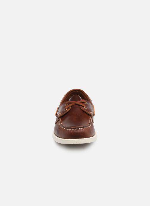 Chaussures à lacets Sebago Portland Waxed Docksides Marron vue portées chaussures