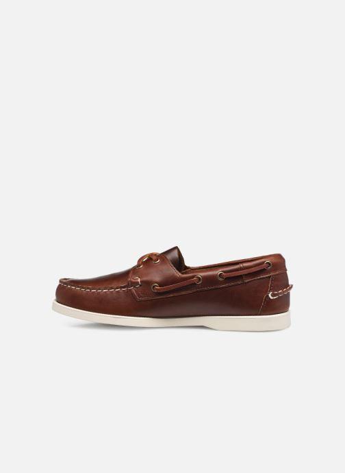 Chaussures à lacets Sebago Portland Waxed Docksides Marron vue face