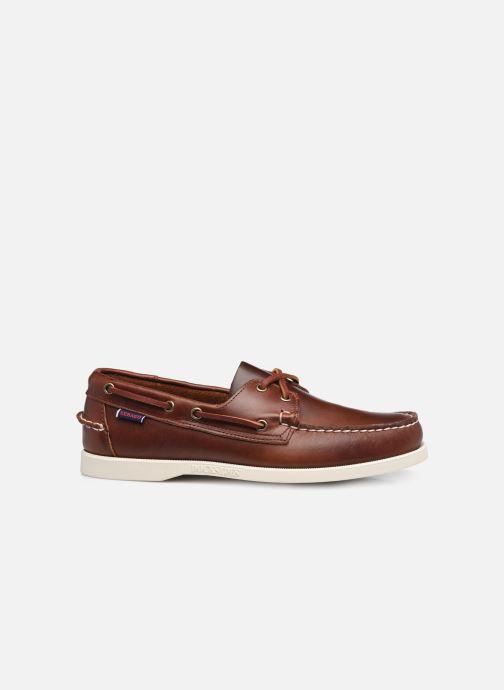 Chaussures à lacets Sebago Portland Waxed Docksides Marron vue derrière