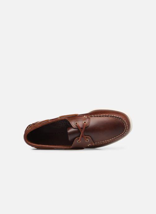 Chaussures à lacets Sebago Portland Waxed Docksides Marron vue gauche
