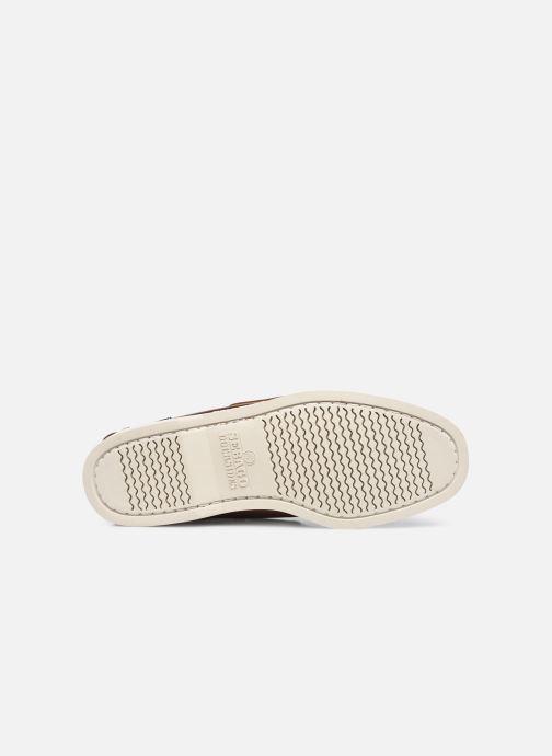 Chaussures à lacets Sebago Portland Waxed Docksides Marron vue haut
