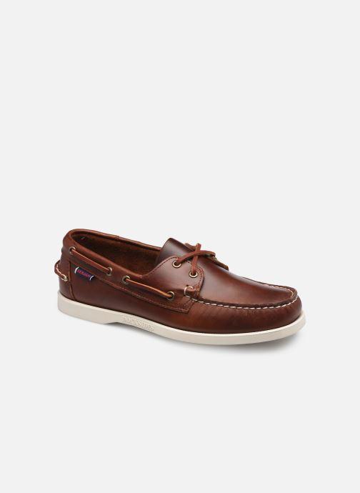 Chaussures à lacets Sebago Portland Waxed Docksides Marron vue détail/paire