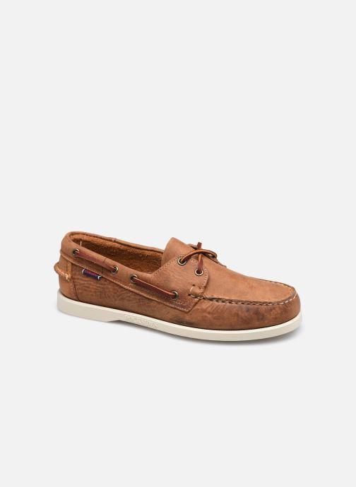 Chaussures à lacets Sebago Portland Crazy H Docksides Marron vue détail/paire