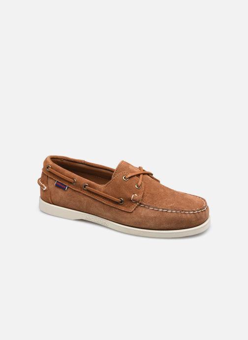 Chaussures à lacets Sebago Portland Suede Docksides Marron vue détail/paire