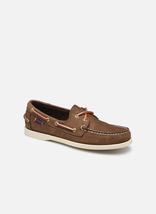 Chaussures à lacets Sebago Portland Nubuck Docksides  Marron vue détail/paire