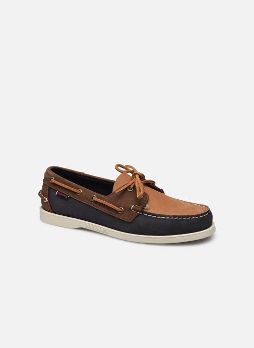 Chaussures à lacets Sebago Portland Archive Docksides Bleu vue détail/paire