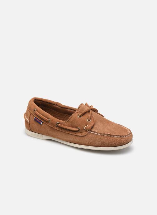 Chaussures à lacets Sebago Jacqueline Suede Docksides W Marron vue détail/paire