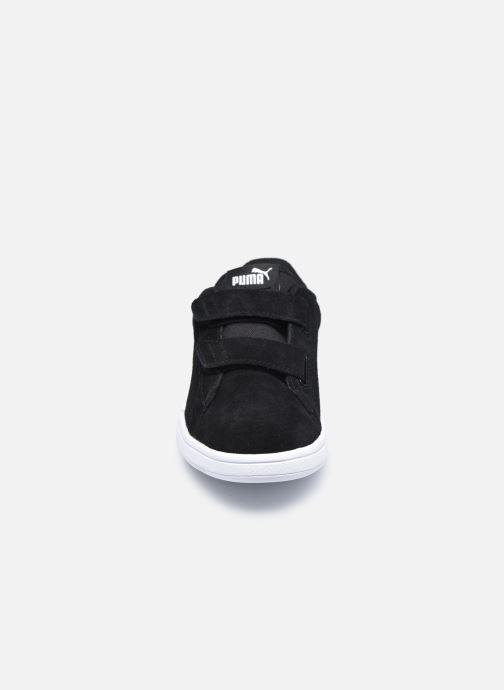 Sneaker Puma Smash v2 K schwarz schuhe getragen