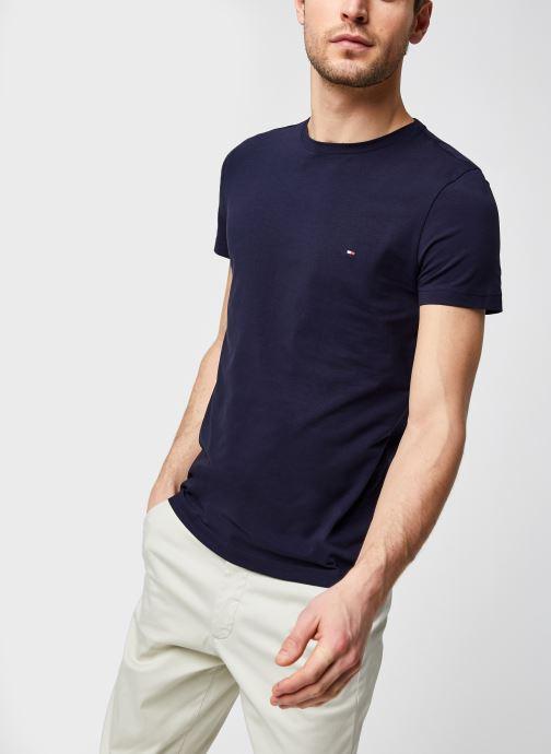 Vêtements Tommy Hilfiger Tee-Shirt Slim Bleu vue détail/paire