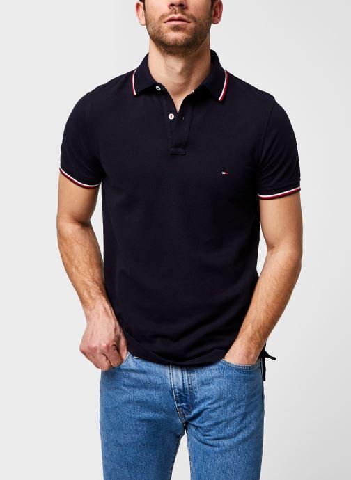 Vêtements Tommy Hilfiger Polo Organic Coton Slim Bleu vue détail/paire