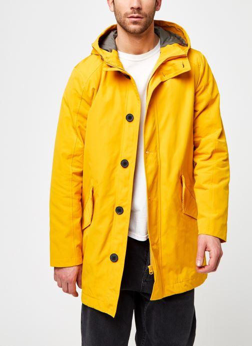 Vêtements Selected Homme Slhsustainable Iconics Parkacoat W Jaune vue détail/paire