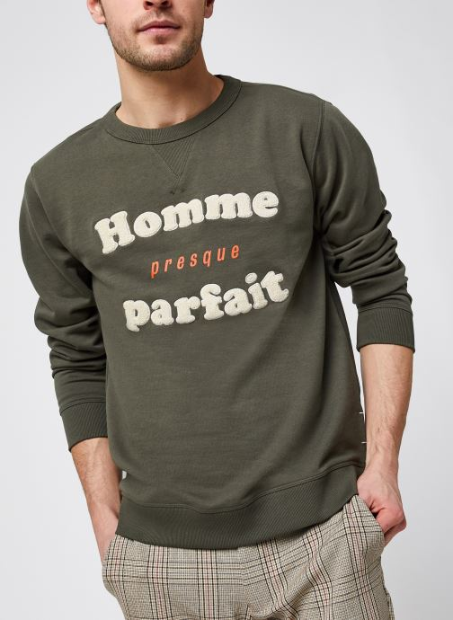 Kleding Selected Homme Slhjared Crew Neck Sweat W Ex Groen detail