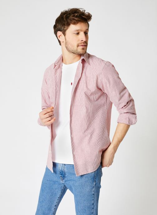 Kleding Accessoires Slhslimnew-Linen Shirt Ls G
