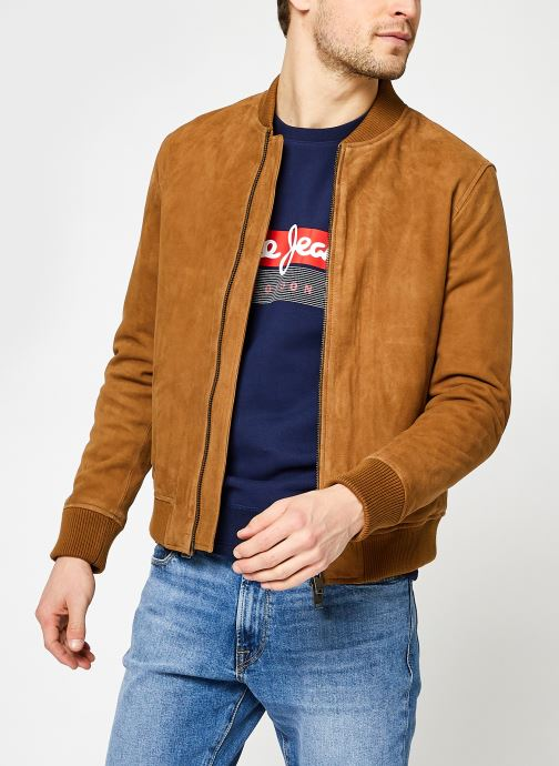 Kleding Accessoires Slhiconic Bomber Suede Jkt W