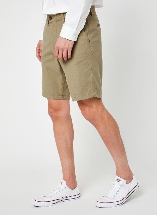 Vêtements Selected Homme Slhmiles Flex Linen Shorts W Vert vue détail/paire