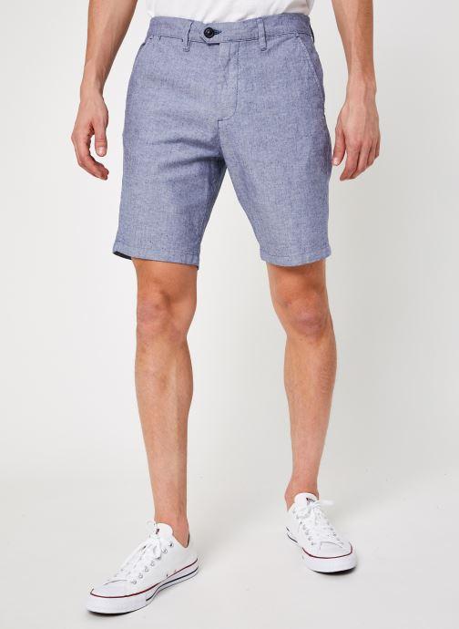 Vêtements Selected Homme Slhmiles Flex Linen Shorts W Bleu vue détail/paire