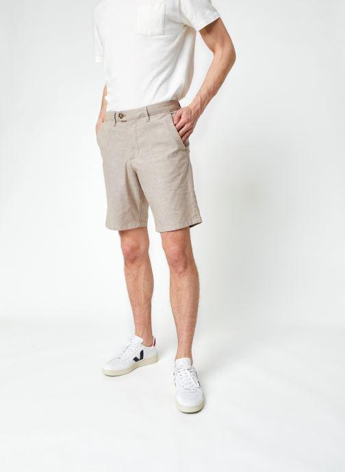 Vêtements Selected Homme Slhmiles Flex Linen Shorts W Marron vue détail/paire