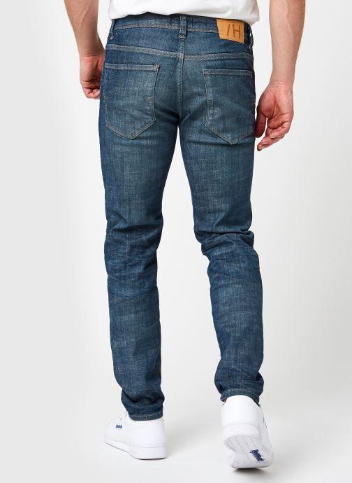 Vêtements Selected Homme Slhslim-Leon 6264 Dark Blue Su-St Jns U Bleu vue portées chaussures