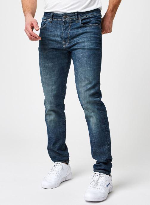Vêtements Selected Homme Slhslim-Leon 6264 Dark Blue Su-St Jns U Bleu vue détail/paire