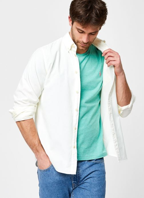 Ropa Selected Homme Slhslimoscar Shirt Ls Cord W Blanco vista de detalle / par