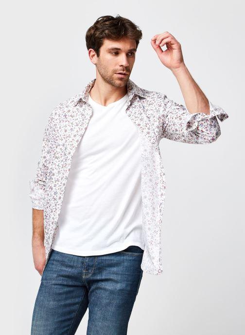 Ropa Selected Homme Slhregpen-Willow Shirt Ls Aop B Blanco vista de detalle / par