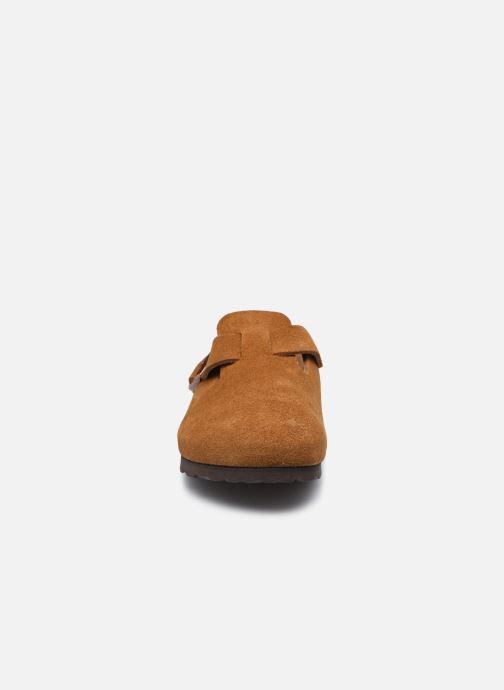 Chaussons Birkenstock Boston W Marron vue portées chaussures