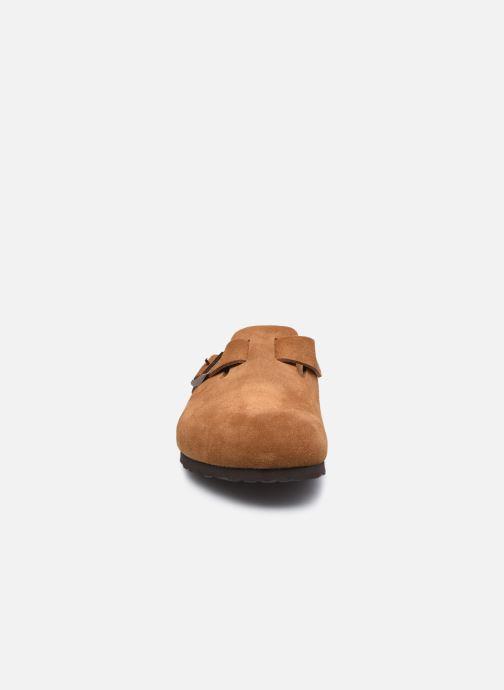 Chaussons Birkenstock Boston Sfb Marron vue portées chaussures