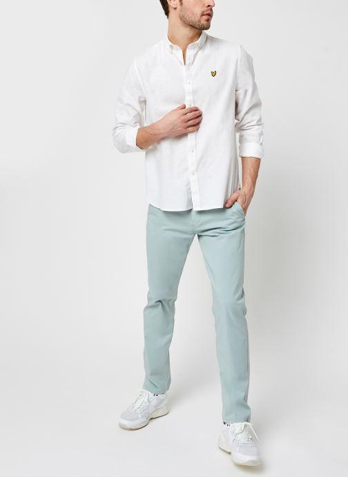 Kleding Lyle & Scott Cotton Linen Shirt Wit onder