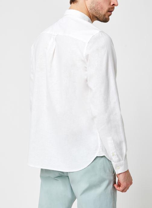 Kleding Lyle & Scott Cotton Linen Shirt Wit model