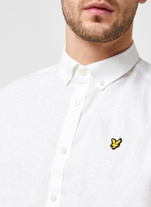 Kleding Lyle & Scott Cotton Linen Shirt Wit voorkant
