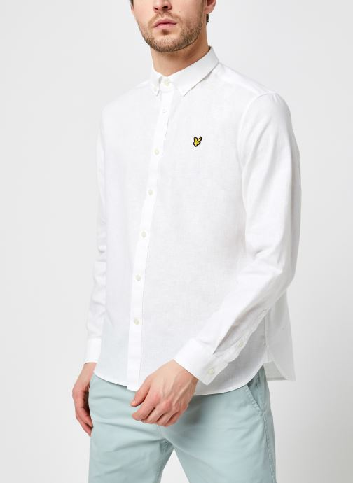 Kleding Lyle & Scott Cotton Linen Shirt Wit rechts