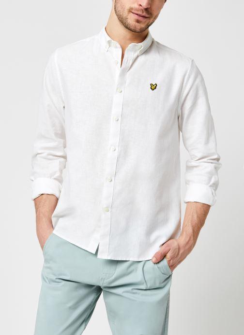 Kleding Lyle & Scott Cotton Linen Shirt Wit detail