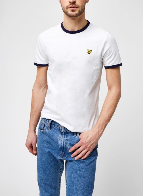 Kleding Lyle & Scott Ringer T-shirt Wit detail