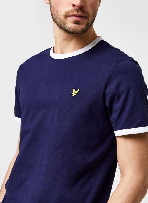 Kleding Lyle & Scott Ringer T-shirt Blauw voorkant