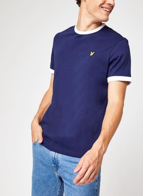 Kleding Lyle & Scott Ringer T-shirt Blauw detail