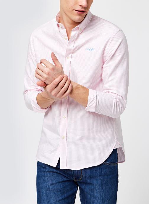 Vêtements Maison Labiche Classic Shirt Out Of Office Rose vue détail/paire
